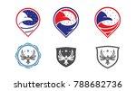 eagle logo design vector... | Shutterstock .eps vector #788682736