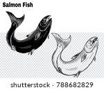 salmon art highly detailed in... | Shutterstock .eps vector #788682829