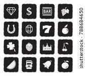 slot machine icons. grunge... | Shutterstock .eps vector #788684650