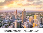 skyline of atlanta city at... | Shutterstock . vector #788684869
