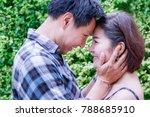 portrait charming handsome... | Shutterstock . vector #788685910