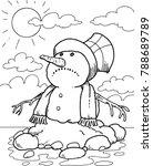 Melting Snowman A Snowman...