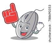 foam finger mouse mascot... | Shutterstock .eps vector #788690353