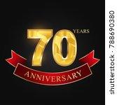 anniversary aniversary  seventy ... | Shutterstock .eps vector #788690380