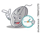 with clock mouse character... | Shutterstock .eps vector #788691370
