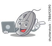 with laptop mouse character... | Shutterstock .eps vector #788692090