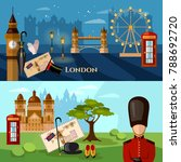 london city skyline banner.... | Shutterstock .eps vector #788692720