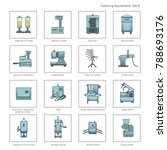 professional kitchen equipment... | Shutterstock .eps vector #788693176