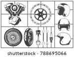 motorcicle logo modeling... | Shutterstock .eps vector #788695066