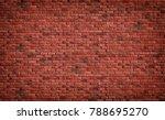 red brown block brick wall...   Shutterstock . vector #788695270