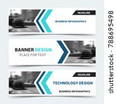 horizontal business banner... | Shutterstock .eps vector #788695498
