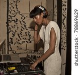 Small photo of NEW YORK - JUNE 08: DJ Tyger Lilly performs at the 5 year anniversary of the Tracy Reese Flagship Boutique on June 8, 2011 in New York City