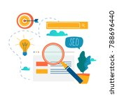 seo  search engine optimization ... | Shutterstock .eps vector #788696440