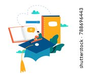 education  online training... | Shutterstock .eps vector #788696443