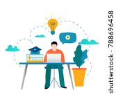 education  online training... | Shutterstock .eps vector #788696458