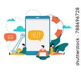 customer service  customer... | Shutterstock .eps vector #788696728