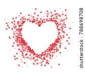 heart shape vector pink... | Shutterstock .eps vector #788698708