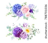violet  blue and purple... | Shutterstock .eps vector #788701036