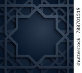 arabic pattern background with... | Shutterstock .eps vector #788701519