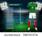 mexico soccer jersey kit with... | Shutterstock .eps vector #788701576