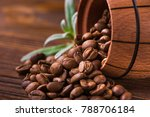 roasted coffee beans in a...   Shutterstock . vector #788706184