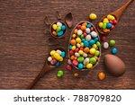 easter dessert tasty chocolate...   Shutterstock . vector #788709820