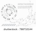 vector tech circle and... | Shutterstock .eps vector #788710144