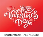 happy valentines day hand drawn ... | Shutterstock .eps vector #788713030