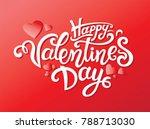 happy valentines day hand drawn ... | Shutterstock .eps vector #788713030