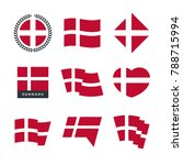 denmark flag vector icons and... | Shutterstock .eps vector #788715994