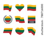 lithuania flag vector icons and ... | Shutterstock .eps vector #788716000