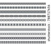 vector set of monochrome... | Shutterstock .eps vector #788717656