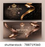 elegant invitation card with... | Shutterstock .eps vector #788719360