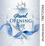 elegant grand opening... | Shutterstock .eps vector #788719366