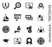 solid black vector icon set  ... | Shutterstock .eps vector #788720428