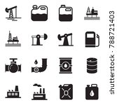 solid black vector icon set  ... | Shutterstock .eps vector #788721403
