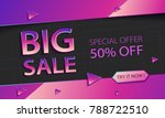 modern colorful sale banner... | Shutterstock .eps vector #788722510
