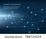 vector tech circle and... | Shutterstock .eps vector #788724529
