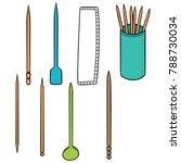 vector set of toothpick | Shutterstock .eps vector #788730034