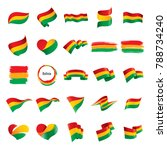 set of bolivia flags  vector... | Shutterstock .eps vector #788734240
