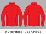 red jacket design  front and... | Shutterstock .eps vector #788734918