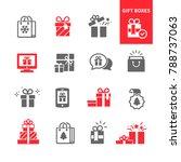 set of gift boxes   Shutterstock .eps vector #788737063