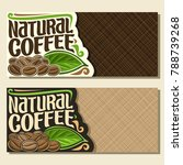 vector banners for coffee with... | Shutterstock .eps vector #788739268