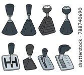 vector set of car transmission | Shutterstock .eps vector #788740690