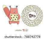children's round maze with... | Shutterstock .eps vector #788742778