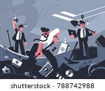 miners extract crypto currency... | Shutterstock .eps vector #788742988