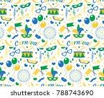 brazilian carnival seamless...   Shutterstock .eps vector #788743690