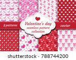 happy valentine's day seamless... | Shutterstock .eps vector #788744200