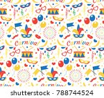 happy birthday or carnival... | Shutterstock .eps vector #788744524
