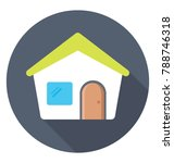house flat colored  icon  | Shutterstock .eps vector #788746318